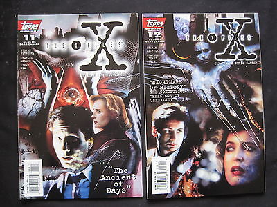"""THE X FILES # 11,12 :""""The ANCIENT of DAYS"""" complete 2 issue story. TOPPS.1995"""