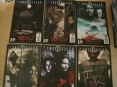 THE X FILES : 30 DAYS of NIGHT : complete 6 issue 2010 DC/WILDSTORM SERIES