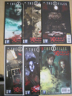 THE X FILES : 30 DAYS of NIGHT : complete 6 issue 2010 DC/WS SERIES. # 1 VARIANT