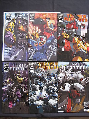"""Transformers :""""generation 1"""",complete 6 Issue Series. Alternative Covers.dw.2003"""