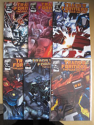 """Transformers : """" The War Within """", Complete 6 Issue Series. Dw. 2002"""
