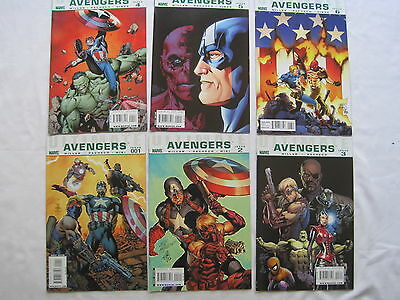 ULTIMATE COMICS : AVENGERS : COMPLETE 6 ISSUE SERIES by MARK MILLAR. MARVEL.2009