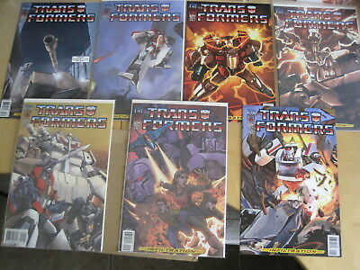 """Transformers : """"infiltration"""" : Complete 7 Issue 2005 Idw Series. 0,1,2,3,4,5,6"""