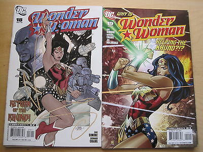 "WONDER WOMAN #s 18, 19, ""EXPATRIATE"" : COMPLETE 2 ISSUE STORY by SIMONE. DC.2008"