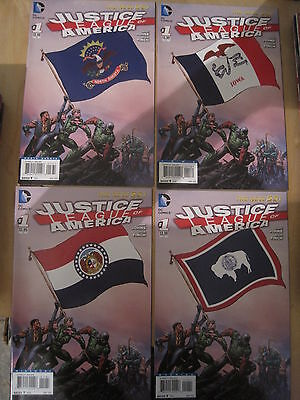 JUSTICE LEAGUE of AMERICA set of 4 x # 1 VARIANTS by JOHNS, FINCH.NEW 52.DC.2013