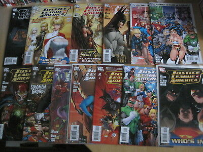 JUSTICE LEAGUE of AMERICA : COMPLETE 61 issue DC 2006 2nd SERIES + 6 Variants