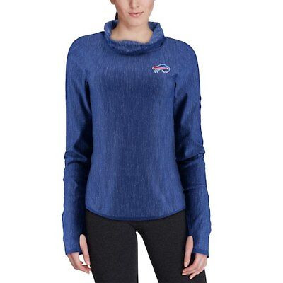 d32e362b9 Antigua Buffalo Bills Women s Heathered Royal Equalizer Cowl Neck Pullover
