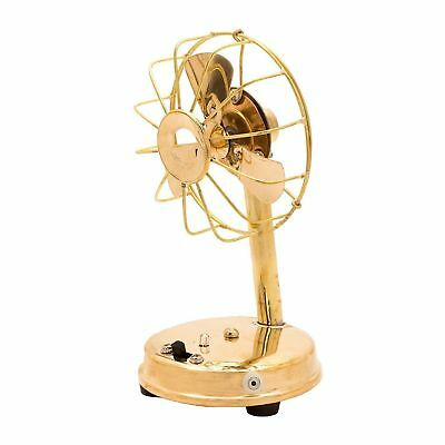 Collectible Working Brass Vintage Style Small Working Table Fan Maritime Item