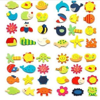 Wood Cute Fridge Magnet Alphabet Animal Number Early Educational Kids Baby Toy M
