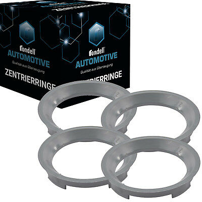 4x Distanzring Zentrierring 70,4 mm - 57,1 mm für Rondell ROD Aluett Speeds