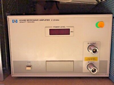 Hp Agilent Keysight 8349B Microwave Amplifier  Option 001  2-20 Ghz