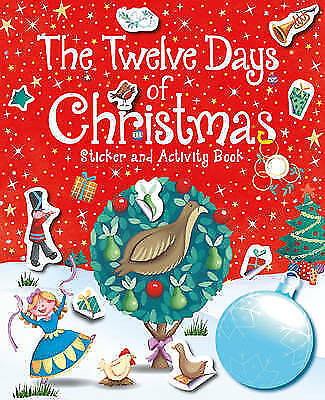 NEW the TWELVE DAYS OF CHRISTMAS  STICKER activity book 12 days 60 STICKERS RED