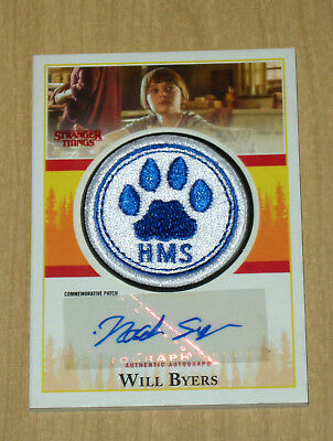 2018 Topps Stranger Things autograph auto patch Noah Schnapp as Will Byers 10/10