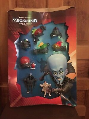 2010 McDonald's Megamind Movie Happy Meal Toy Display