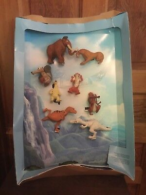 2009 McDonald's Ice Age Movie Happy Meal Toy Display