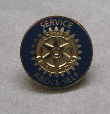 """New Rotary International Service Above Self 7/8"""" Gold Plated Pin"""