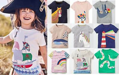 Mini Boden girls applique t- shirt top age 2 - 12 years cotton jersey summer tee