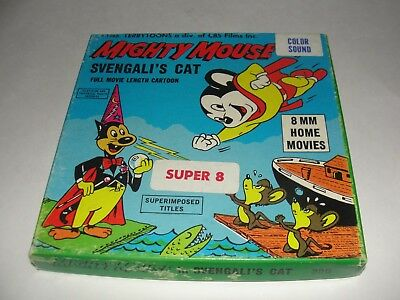 MIGHTY MOUSE ( SVENGAL'S CAT ) 200' Super 8 COLOR & SOUND