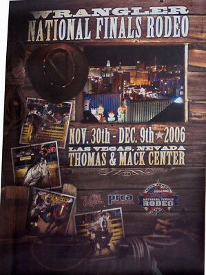 RODEO POSTER - 2006 Wrangler National Finals Rodeo - Genuine-NEW-PRCA