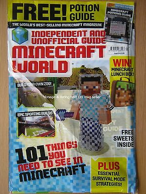 Minecraft World magazine issue 24 Build a Zoo Sporting Builds Potions Guide