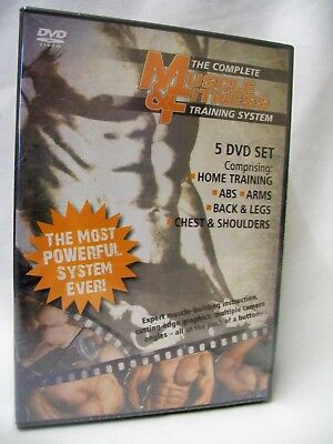 5 Dvd Set The Complete Muscle & Fitness Training System New & Sealed