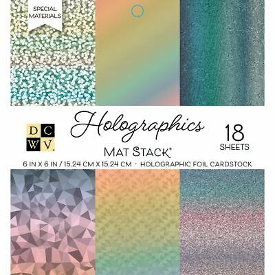 Single - Sided Cardstock Stack 6 inch x 6 inch 18/Pkg - Holographics - Dcwv