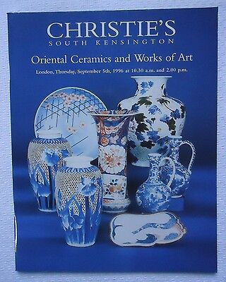 Christie's South Kensington Oriental Ceramics And Works Art Softcover Catalog