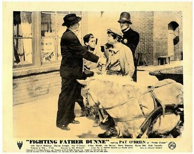 Fighting Father Dunne 1948 original 8x10 lobby card Pat O'Brien with police man