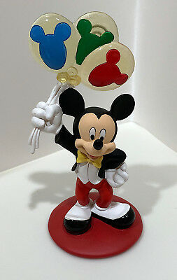 Disney Parks Mickey Mouse with Balloons Figurine Clip Frame NEW