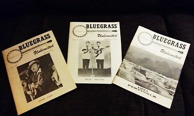 Bluegrass Unlimited Magazines 1971 in great condition- Volume 5 #s 7, 8 and 9