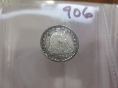 1858 Seated Half Dime F Details (Scratches) (906)
