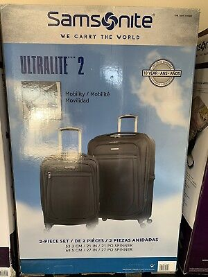 Samsonite Ultralite 2.0, 2-piece Softside Spinner Set Black