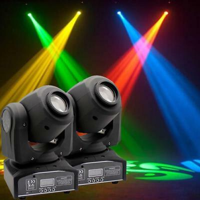 2Pcs 60W RGBW LED Moving Head Stage Light DMX 512 DJ Club Disco Party Light KTV