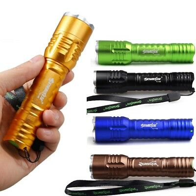 Flashlight Zoomable Focus 20000Lumens Tactical LED T6 LED Zoom 18650 Lamp Torch