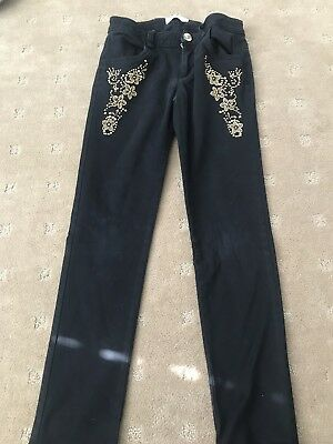 Versace Young Girls Black Pants Size Xs / Years Good Condition