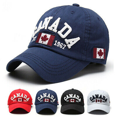 Men Unisex Canada Flag Baseball Cap Adjustable Snapback Visor Golf Hip-hop Hat