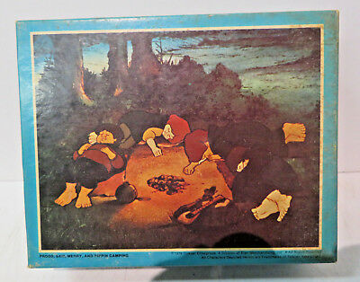 Frodo Camping TOLKIEN'S LORD OF THE RINGS JIGSAW PUZZLE 1979 vintage SEALED