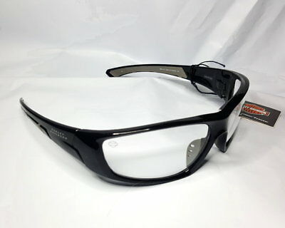 Harley-Davidson® Motorcycle Bar And Shield Black Sunglasses With Clear Lens