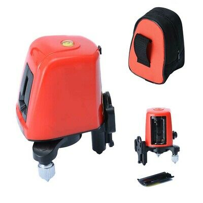 AK435 360 Degree Self-leveling Cross Laser Level Red 2 Line 1 Point Home Tool