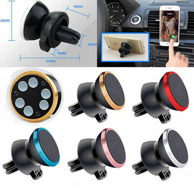 New Car Magnetic Air Vent Mount Holder Stand for Mobile Cell Phone iPhone GPS