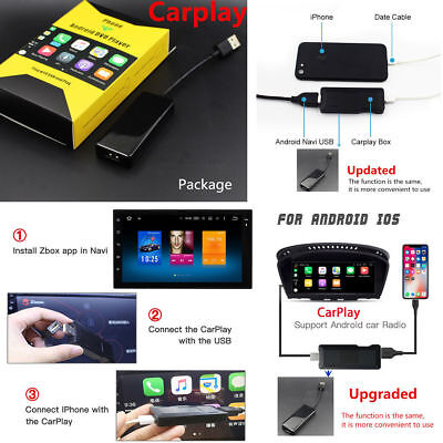 FOR CAR ANDROID MP5 DVD Stereo Player 5V USB Smart Link Apple Carplay  Dongle Box