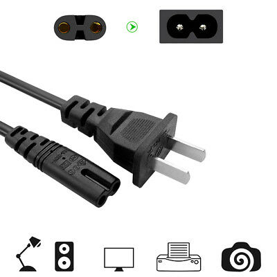 1X 8 Mains Power Cable Lead Cord AC Wire For Laptop XBOX PS4 LCD Monitor