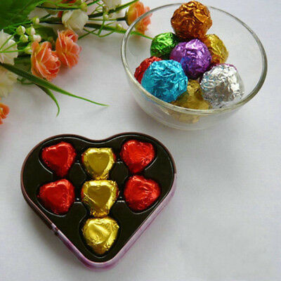 10x10cm Glossy Colorful Silver Foil Pack Paper For Candy Chocolate Wedding Gift