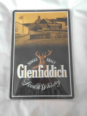 Glenfiddich Scotch Whisky  Blechschild    ca. 30 x 20 cm  Neu OVP