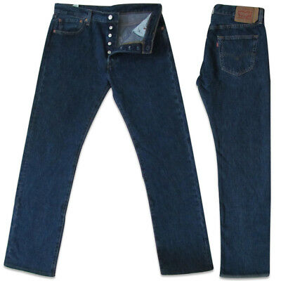 a77cf07a290 Levi's 501 Original Fit Jeans For Men's, Button Fly Dark Stone Wash  00501-0194