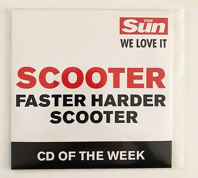 ♪♪ SCOOTER - FASTER HARDER SCOOTER The SUN PROMO UK CARDSLEEVE VERY RARE ♪♪