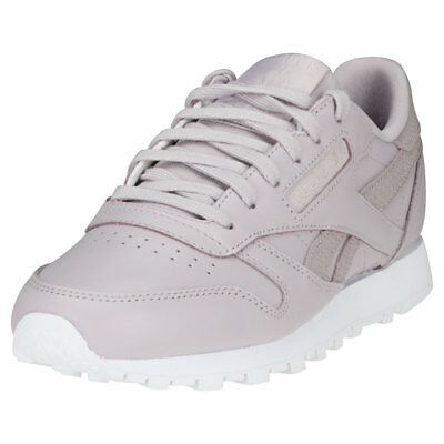 hot sale online ad5f5 496ec REEBOK CLASSIC LEATHER Ps Pastel Womens Lavender Leather Trainers