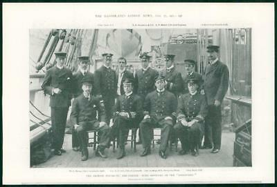 1901 Antique Print - ANTARCTIC Expedition SHIP DISCOVERY Officer Shackleton (73)