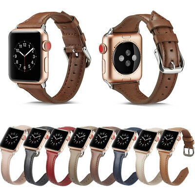 Leather Watch Band Strap Bracelet for iWatch Apple Watch Series 4/3/2 40mm 44mm