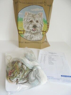 ❤ THE CRAFT COLLECTION NEW West Highland Terrier Tapestry Approx 12 inch Diam